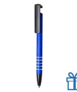Touchscreen pen mobile holder blauw bedrukken