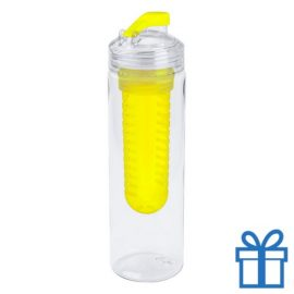 Transparante bidon 700ml geel bedrukken