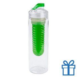 Transparante bidon 700ml groen bedrukken
