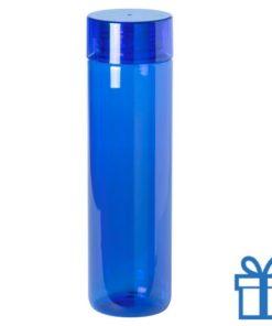 Transparante bidon 780ml blauw bedrukken