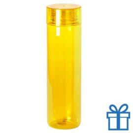 Transparante bidon 780ml geel bedrukken