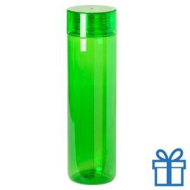 Transparante bidon 780ml groen bedrukken