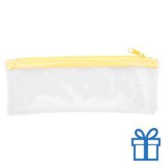 Transparante etui goedkoop geel