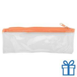 Transparante etui goedkoop oranje