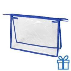 Transparante make-uptas blauw bedrukken