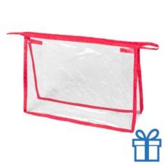 Transparante make-uptas rood bedrukken