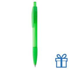 Transparante pen rubberen grip groen