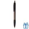 Transparante pen rubberen grip zwart