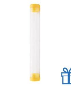 Transparante pennenkoker geel