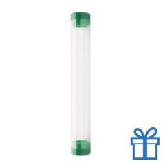 Transparante pennenkoker groen