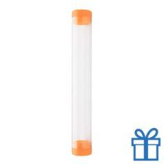 Transparante pennenkoker oranje