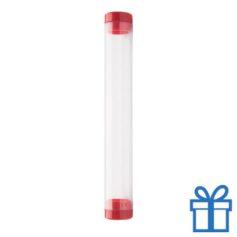 Transparante pennenkoker rood