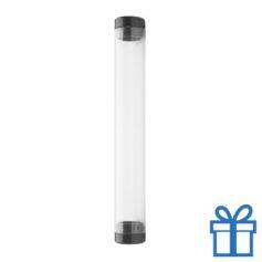 Transparante pennenkoker zwart bedrukken