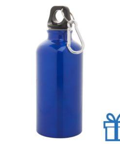 Trendy alu bidon 400ml blauw bedrukken