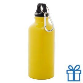 Trendy alu bidon 400ml geel bedrukken