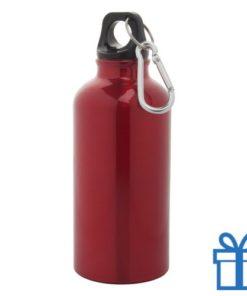 Trendy alu bidon 400ml rood bedrukken