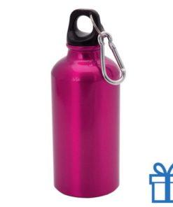 Trendy alu bidon 400ml roze bedrukken