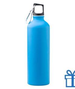 Trendy aluminium bidon mat 750ml blauw bedrukken