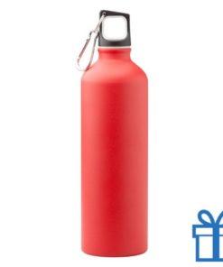 Trendy aluminium bidon mat 750ml rood bedrukken