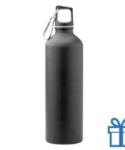 Trendy aluminium bidon mat 750ml zwart bedrukken