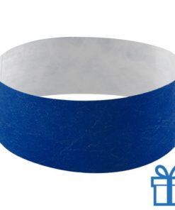 Tyvek Polsbandjes blauw bedrukken