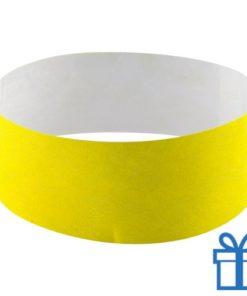 Tyvek Polsbandjes geel bedrukken
