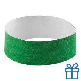 Tyvek Polsbandjes groen bedrukken