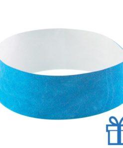 Tyvek Polsbandjes lichtblauw bedrukken