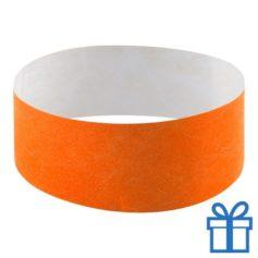 Tyvek Polsbandjes oranje bedrukken