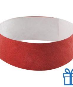 Tyvek Polsbandjes rood bedrukken