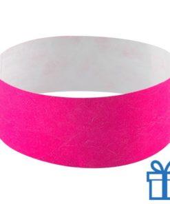 Tyvek Polsbandjes roze bedrukken