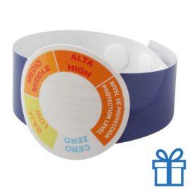 UV meter armband blauw bedrukken