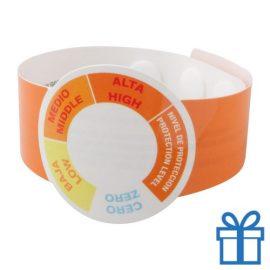 UV meter armband oranje bedrukken