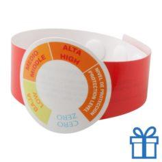 UV meter armband rood bedrukken