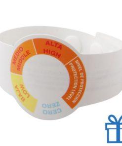 UV meter armband wit bedrukken