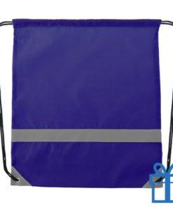 Veiligheids trektouw tas blauw bedrukken