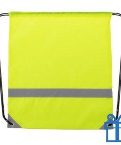 Veiligheids trektouw tas geel bedrukken