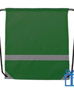 Veiligheids trektouw tas groen bedrukken