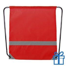 Veiligheids trektouw tas rood bedrukken