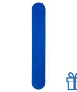 Velvet pennenhoes blauw