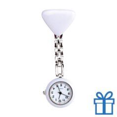 Verpleegsters horloge klem wit bedrukken