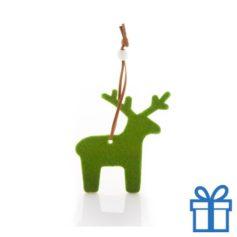 Vilten kerstboomhanger rendier bedrukken