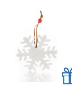 Vilten kerstboomhanger sneeuwvlok bedrukken