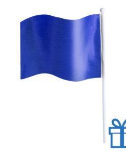 Vlaggetje bedrukken blauw bedrukken