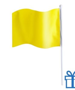 Vlaggetje bedrukken geel bedrukken