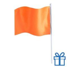 Vlaggetje bedrukken oranje bedrukken