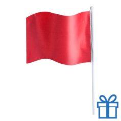 Vlaggetje bedrukken rood bedrukken