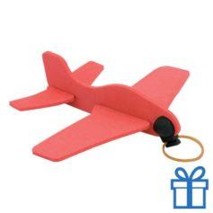 Vliegtuigje EVA rood bedrukken
