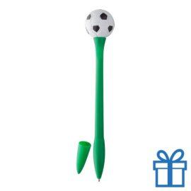 Voetbal balpen groen bedrukken