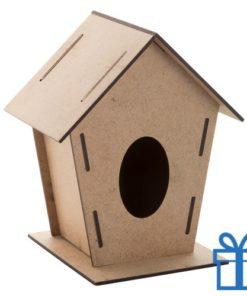 Vogelhuisje hout bedrukken